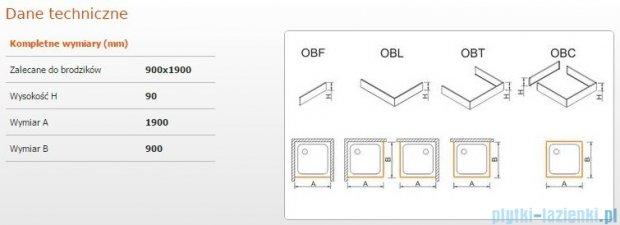 Sanplast Obudowa brodzika OBL 90x190x9 cm 625-400-1620-01-000