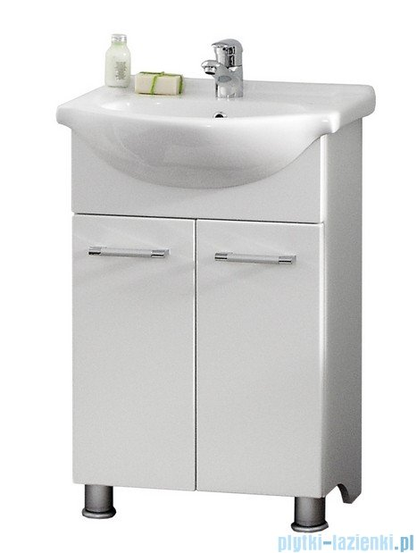 Antado Prima szafka z umywalką 51x29,6x80 biały połysk BFM-140/5 + UCG-55