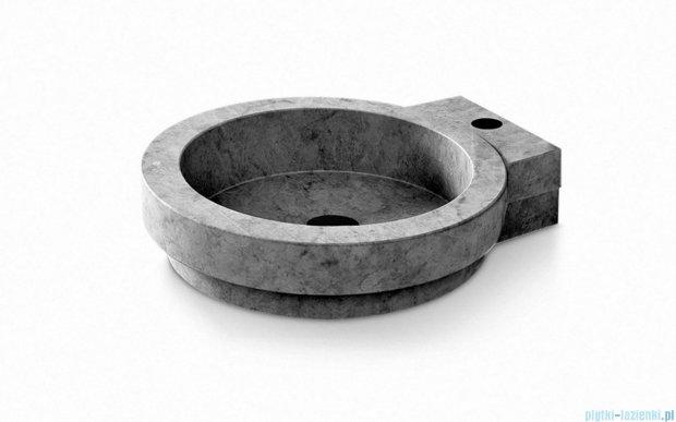Bathco Icono umywalka nablatowa kamienna 40x45cm black 00339