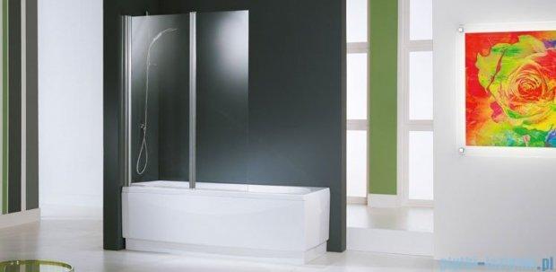 Novellini Parawan Aurora2 120x150cm profil srebrny szkło przezroczyste AURORAN2-1B