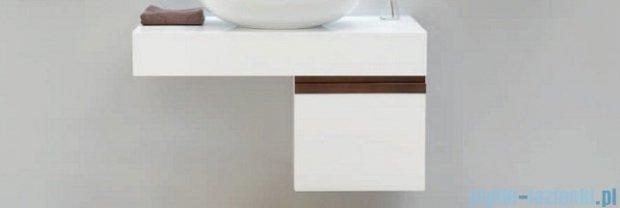 Antado Combi szafka z blatem prawym i umywalką Conti biały/ciemne drewno ALT-140/45GT-WS/dp+ALT-B/4R-1000x450x150-WS+UCT-TP-37x59