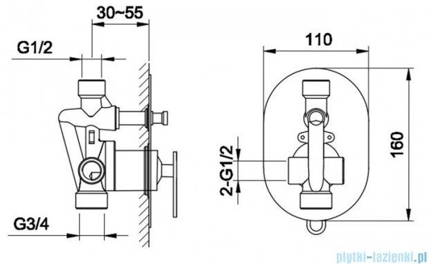 Kohlman Boxine zestaw prysznicowy chrom QW210BR40