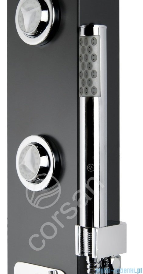 Corsan Tosca panel prysznicowy z mieszaczem Czarny A-052CZARNY