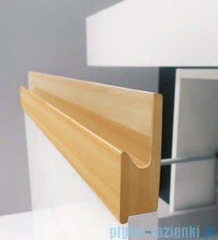 Antado Combi szafka z blatem lewym i umywalką Mia biały/jasne drewno ALT-140/45GT-WS/dn+ALT-B/1-1000x450x150-WS+UCS-TC-60