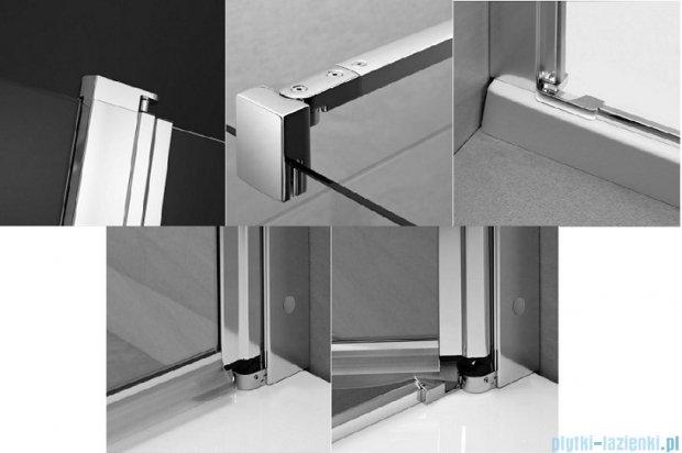 Radaway Eos II KDS kabina prysznicowa 90x80 prawa szkło przejrzyste 3799481-01R/3799410-01L