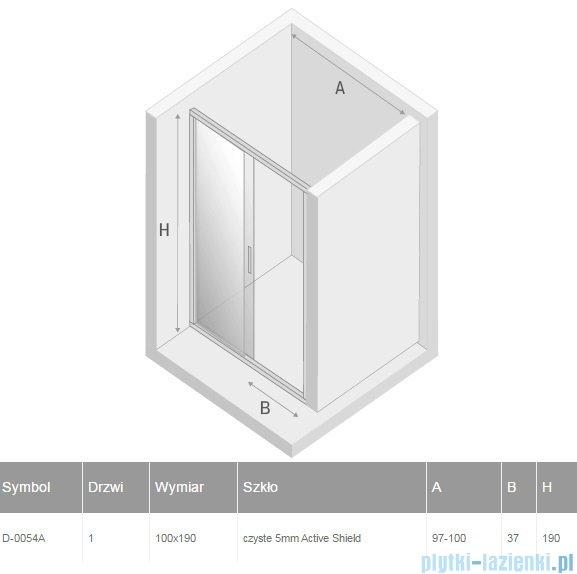 New Trendy Varia drzwi przesuwne 100x190 cm szkło przejrzyste D-0054A