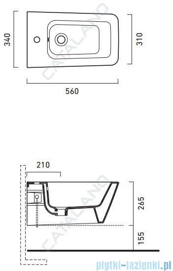 Catalano Proiezioni Bidet 56 bidet wiszący 56x34 cm biały 1BSPN00
