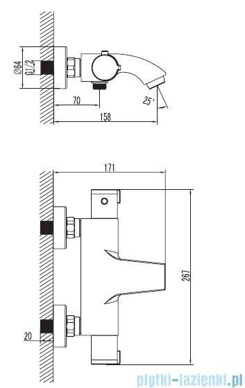 Art Platino Term bateria wannowa termostatyczna chrom TER-BWNT.022C