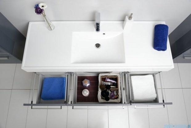 Antado Variete szafka z umywalką, wisząca 140 szary połysk 2xFM-442/4-K917 + FM-442/6-K917 + UNAM-1404C