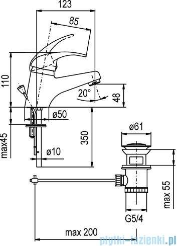KFA NEFRYT Bateria umywalkowa stojąca chrom 502-815-00