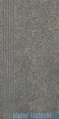 Paradyż Flash grafit mat stopnica 30x60