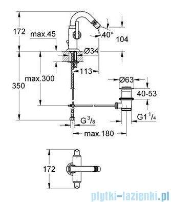 Grohe Atrio jednootworowa bateria bidetowa DN 15 chrom 24026000
