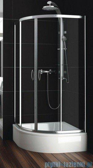 Aquaform Nigra kabina prysznicowa półokrągła 90x90x185cm chrom szkło przejrzyste 100-092111P
