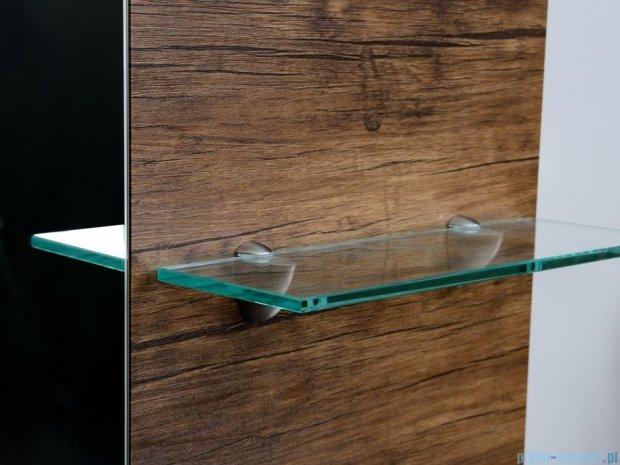 Antado Sycylia Lustro z półkami 91x80 stare drewno KTS-L1-80x91-50