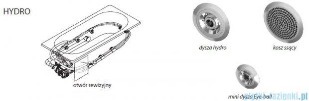 Riho Lyra wanna asymetryczna lewa 153x100 z hydromasażem PRO Hydro 6+4+2 BA68P6