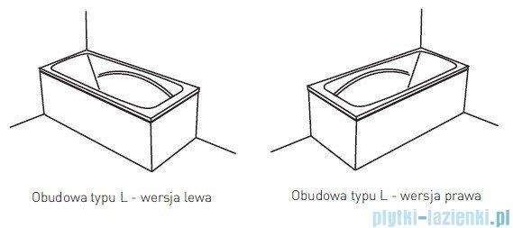 Poolspa Obudowa jednoczęściowa typu L (prawa) do wanny 150x70 PWOKE10OWL00000