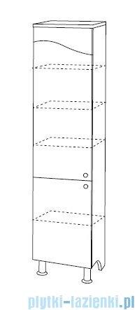 Antado Meva słupek wysoki lewy 34x34x185 biały połysk BWM-185L-WS