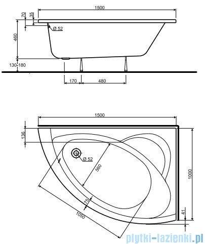 Koło Neo Plus Wanna asymetryczna 150x100cm Prawa XWA0750