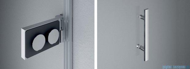 SanSwiss PUR PU31 Drzwi lewe wymiary specjalne do 200cm cieniowane czarne PU31GSM41055