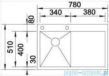 Blanco Zerox 4 S-IF zlewozmywak lewy  stal szlachetna polerowana  z k. aut.  513758