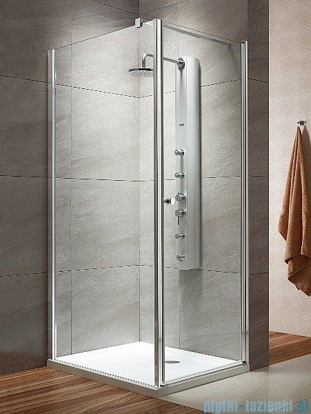 Radaway Eos KDJ kabina prysznicowa 100x100 prawa szkło przejrzyste + delos C + syfon 37523-01-01NR