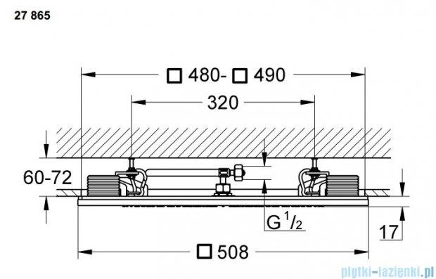 Grohe Rainshower F-Series deszcownica sufitowa ze zintegrowanym światłem  27865000