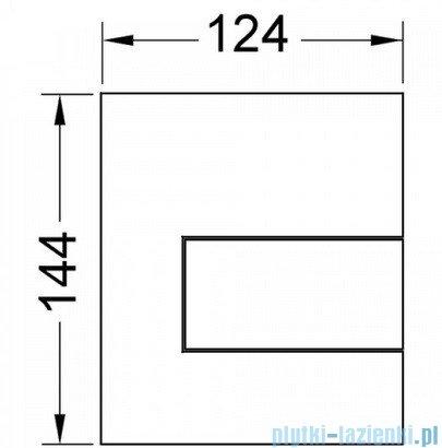 Tece Przycisk spłukujący do pisuaru z metalu Tecesquare biały 9.242.812