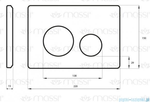 Massi Enco przycisk do stelaża WC chrom MSST-P03