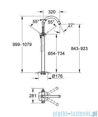 Grohe Grandera jednouchwytowa bateria wannowa chrom 23318000