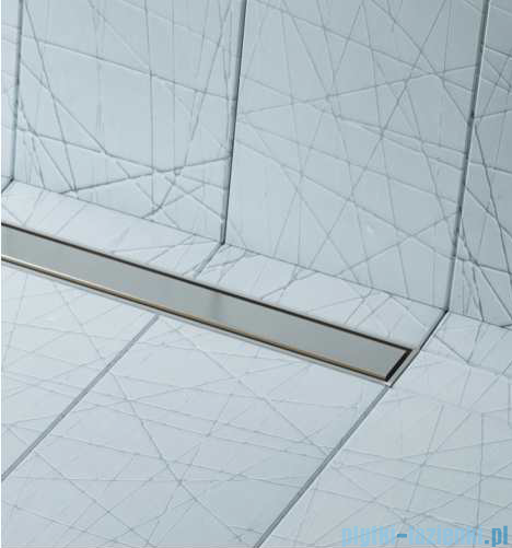 Schedpol brodzik posadzkowy podpłytkowy ruszt Slim Lux Steel 90x90x5cm 10.102/OLSL