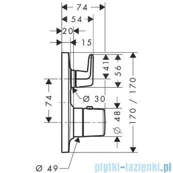Hansgrohe Axor Bouroullec Bateria termostatyczna podtynkowa z zaworem odcinająco-przełączającym 19706000