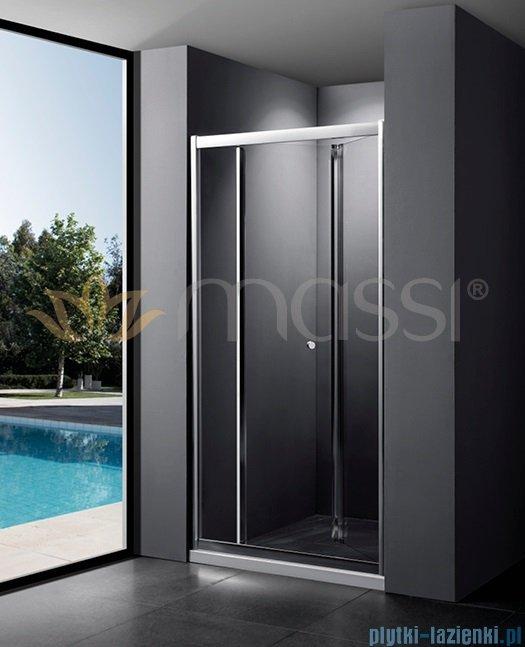 Massi Case drzwi prysznicowe składane 90x185 cm przejrzyste MSKP-FA920-90