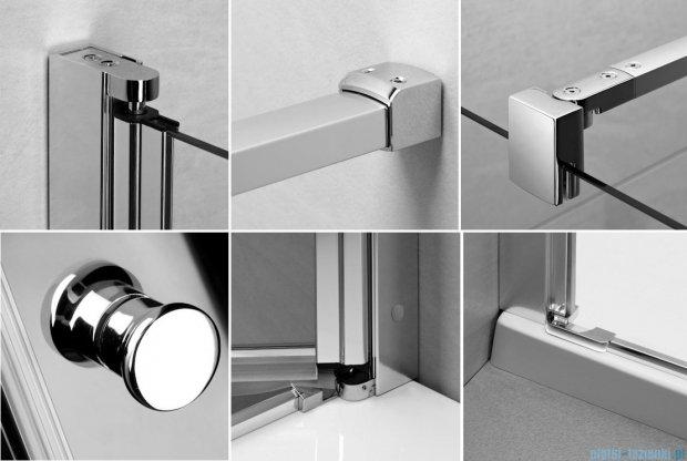Radaway Eos PDD kabina prysznicowa 100x100 szkło przejrzyste + brodzik Patmos A + syfon 37623-01-01N