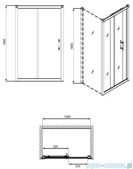 Koło Geo 6 drzwi 100cm rozsuwane GDRS10205003