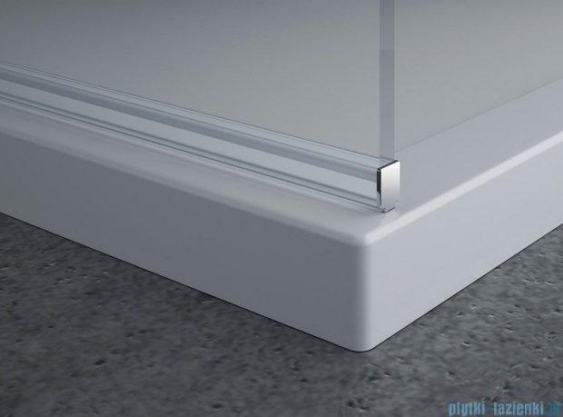 SanSwiss Pur PDT4P Ścianka wolnostojąca 140cm profil chrom szkło Satyna PDT4P1401049