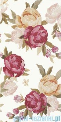 Paradyż Bellicita bianco fiori inserto 30x60