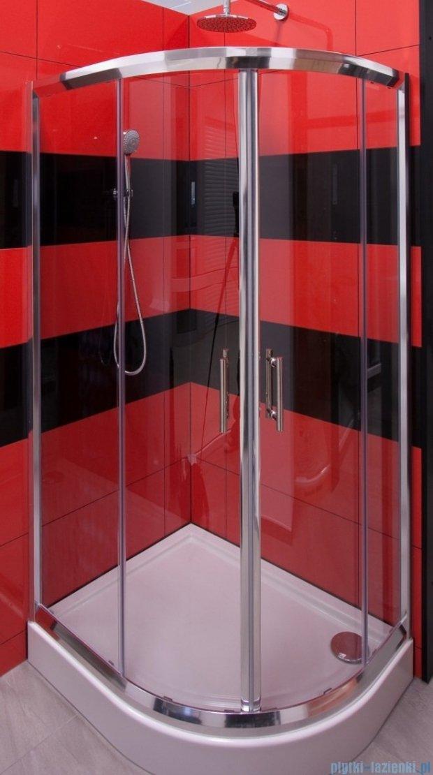 Omnires Health Kabina dwuskrzydłowa prawa JK28 80x100x185cm przejrzyste JK2808/10P