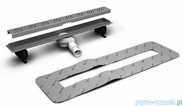 Radaway Steel Odpływ liniowy 55x8cm 5L055A,5R055S