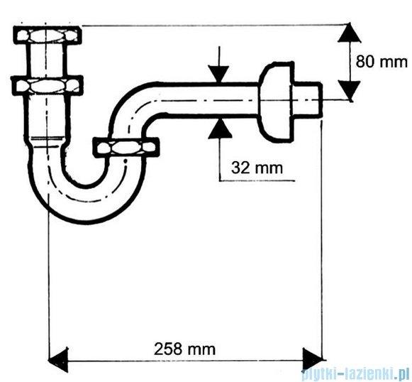 McAlpine Syfon umywalkowy rurowy chrom 215CB