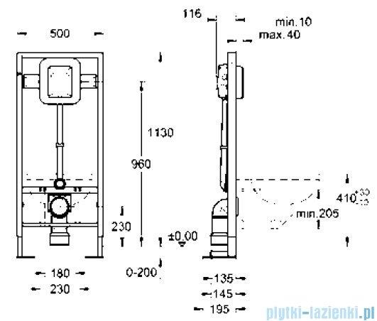 Grohe Rapid SL do WC ściennego automat spłukujący ciśnieniowy 6-9l do uruchamiania ręcznego/elektrycznego 38585001