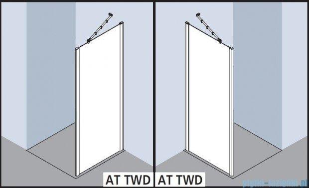 Kermi Atea Ściana boczna, szkło przezroczyste, profile białe 70x200cm ATTWD070202AK