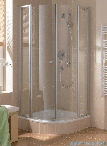 Kermi Cada Kabina ćwierćkolista z drzwiami wahadłowymi, szkło przezroczyste CadaClean 80x80cm CAP48080182PK