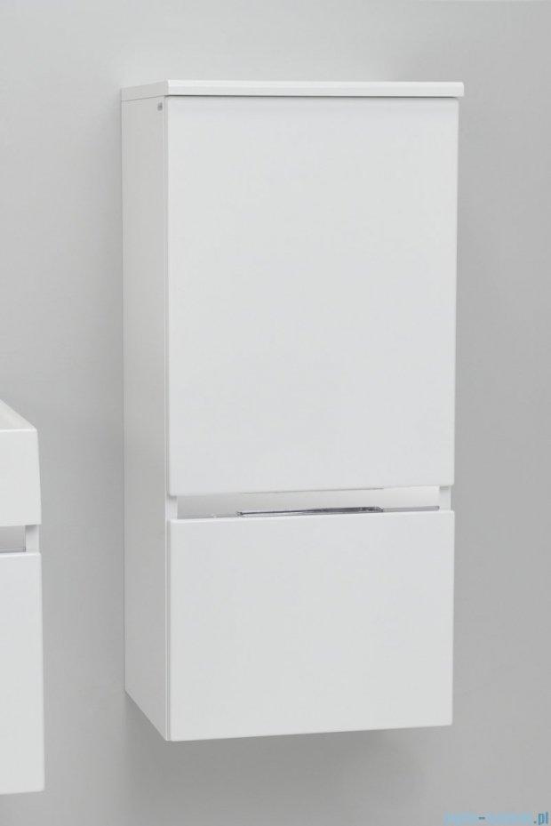 Antado Cantare Słupek niski wiszący z szufladą 40x33x88  lewy, biały połysk FSM-394GTL-47/47