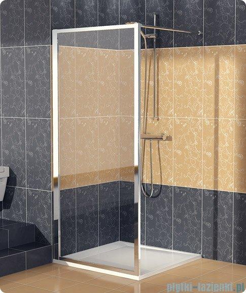 SanSwiss Eco-Line Ścianka boczna Ecof 90cm profil biały szkło przejrzyste ECOF09000407