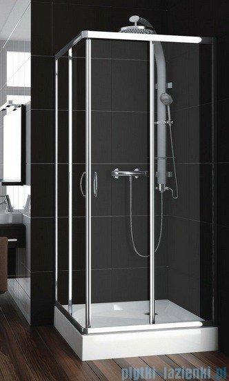 Aquaform Nigra kabina prysznicowa kwadratowa 80x80x185cm chrom szkło przejrzyste 101-091111P
