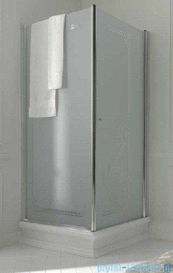 Kerasan Retro Kabina kwadratowa lewa szkło dekoracyjne przejrzyste profile złote 90x90 9147N1