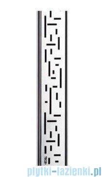 Tece Ruszt prosty Lines ze stali nierdzewnej Tecedrainline 80 cm stal szczotkowana 6.008.21