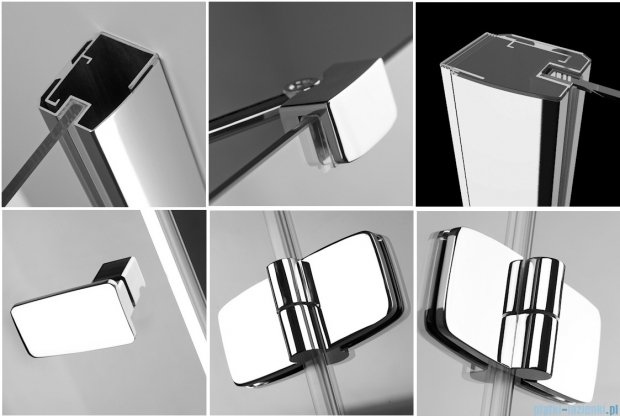 Kabina Radaway prysznicowa Fuenta KDD 100x80 szkło przejrzyste 381063-01L