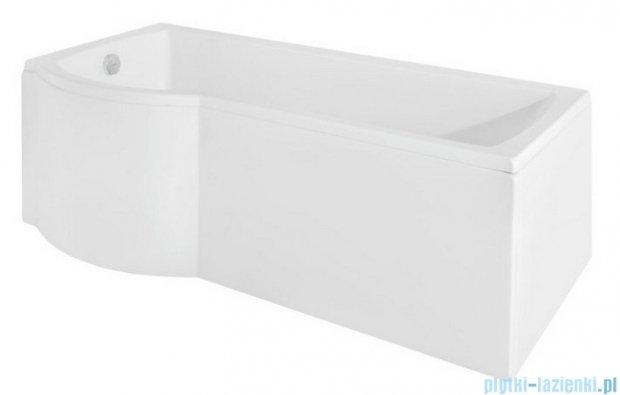 Besco Inspiro 170x70cm Wanna asymetryczna z parawanem lewa #WAI-170-PLE
