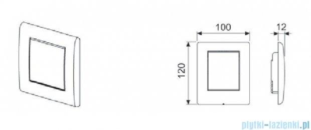 Tece Przycisk spłukujący do pisuaru Teceplanus biały (połysk) 9.242.314
